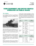 Farm Equipment and Motor Vehicle Operation on Public Roads
