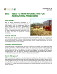 BSE: Need to Know Information for Agricultural Producers