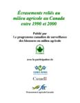 Écrasements reliés au milieu agricole au Canada entre 1990 et 2000