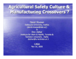 Agricultural Safety Culture and Manufacturing Crossovers?