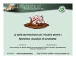 La santé des travailleurs de l'industrie porcine : Recherche, éducation et surveillance