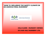 How to Influence the Safety Climate in an Agricultural Business