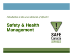 Safety & Health Management