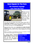 "Hand Signals on the Farm: The 'Universal Language""; Learn Them - Use Them"