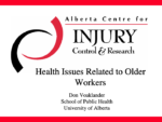 Health Issues Related to Older Workers