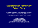 Saskatchewan Farm Injury Cohort Study