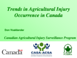 Trends in Agricultural Injury Occurrence in Canada