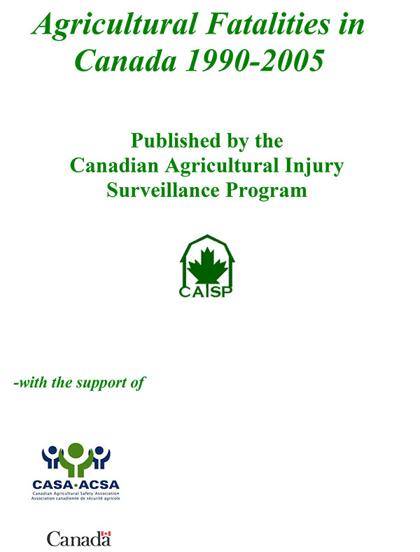 agricultural fatalities in canada 1990 2005 canadian agricultural