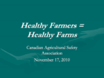 Healthy Farmers Healthy Farms