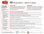 Farm Safety- Write it Right
