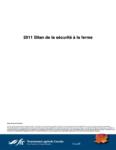 Bilan de la sécurité agricole 2011