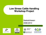 Low Stress Cattle Handling Workshop Project