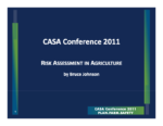 Risk Assessment in Agriculture