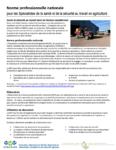 Norme professionnelle nationale pour les Spécialiste de la santé et de la sécurité au travail en agriculture