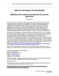 Analyse nationale de profession - Spécialiste de la santé et de la sécurité au travail en agriculture