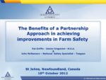 The Benefits of a Partnership Approach in Achieving Improvements in Farm Safety