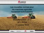 Les nouvelles normes pour les machines agricoles hautement automatisées