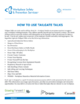 Agricultural Safety Tailgate Talks English