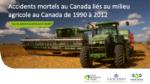 Accidents mortels au Canada liés au milieu agricole au Canada de 1990 à 2012