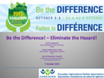 Be the Difference! - Eliminate the Hazard!