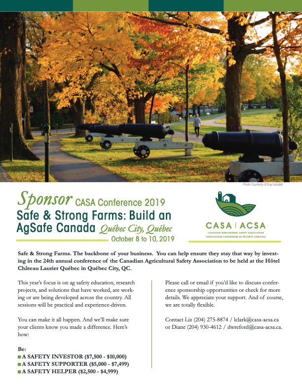 Annual Conference – Canadian Agricultural Safety Association