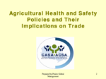 Agricultural Health and Safety Policies and Their Implications on Trade