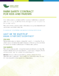 Farm Safety Contract for Kids and Parents