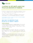 Contrat de sécurité agricole pour les enfants et parents