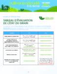 Tableau d'évaluation de l'état du grain