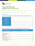 Tractor Pre-Use Inspection Checklist