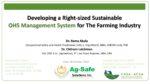Développer un système de gestionde la sécurité durable de la bonne taille pour l'industrie agricole