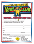 Farm Safety Kids' Club form