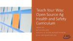 Enseignez à votre façon: Curriculum à source ouverte pour la santé et sécurité agricoles