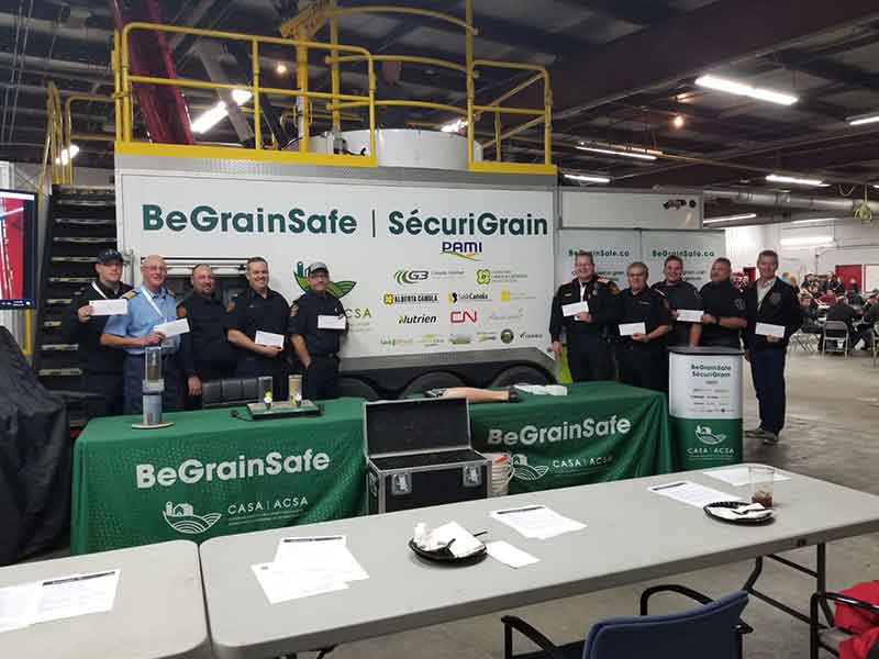 Ten Saskatchewan Fire Departments Receive Vital Grain Rescue Equipment
