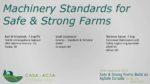 Les normes sur les machines pour les fermes fières et sécuritaires
